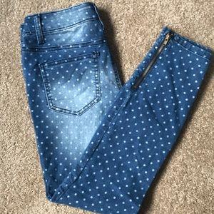 Lei zip leg skinny jeans